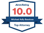 AVVO Rating 10 - Michael Baseluos